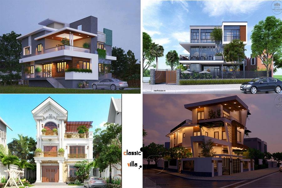 Tổng Hợp 11 Mẫu Thiết Kế Biệt Thự 3 Tầng Đẹp Nhất Năm 2017