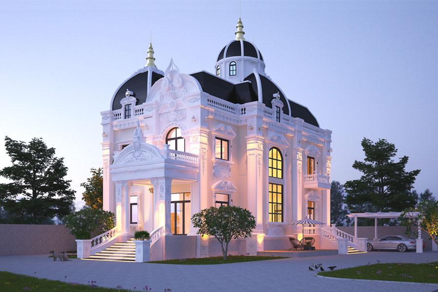 Thiết kế biệt thự cổ điển 2 tầng. Ảnh đại diện