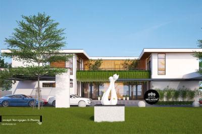 Thiết Kế Biệt Thự Hiện Đại 2 Tầng Kết Hợp Kinh Doanh Tại Tây Ninh-BT12