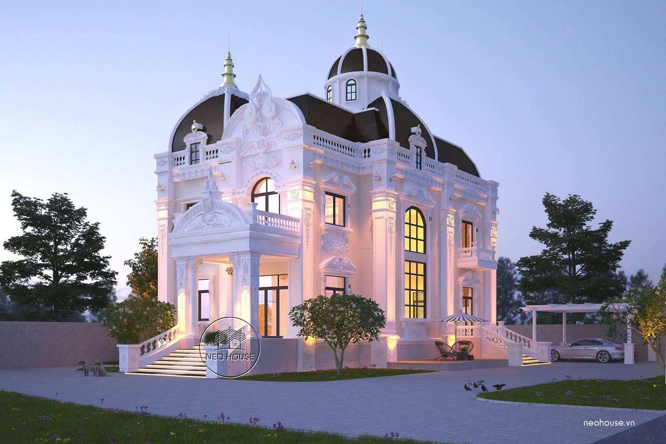 Mẫu biệt thự cổ điển 2 tầng đẹp