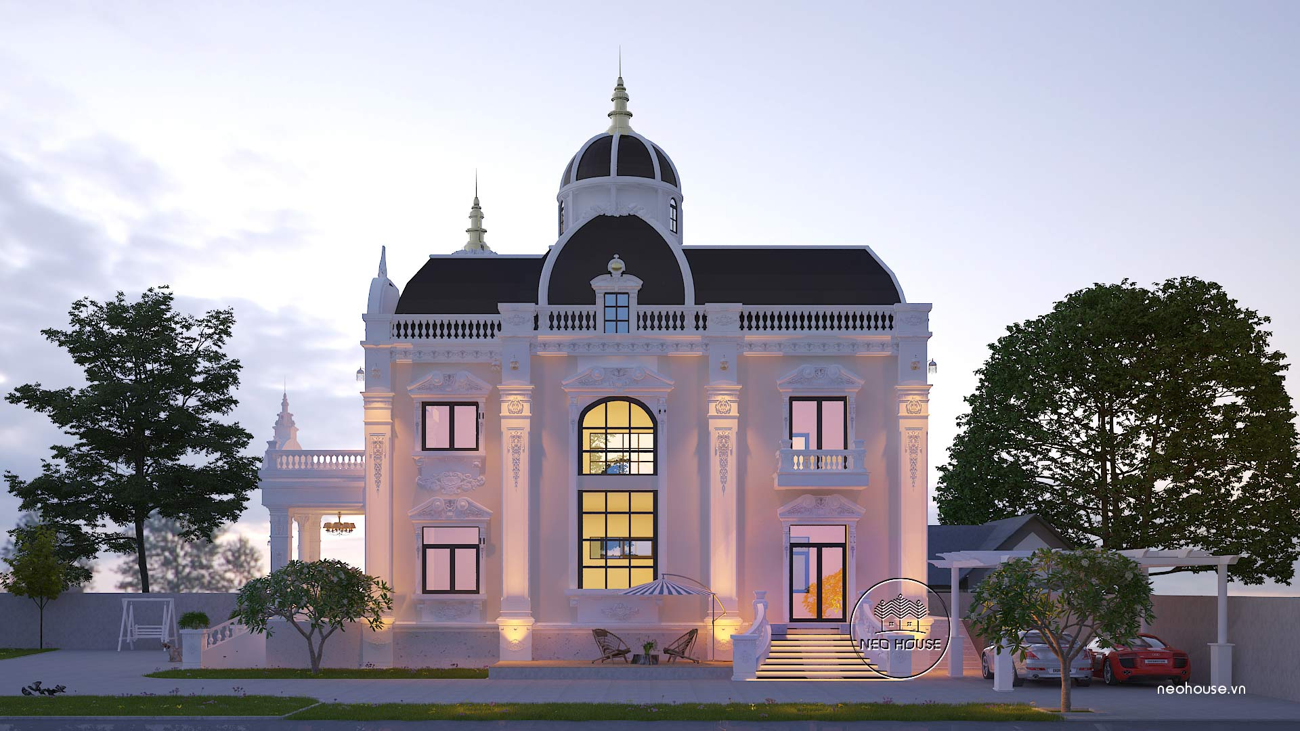 Thiết kế biệt thự cổ điển đẹp 2 tầng