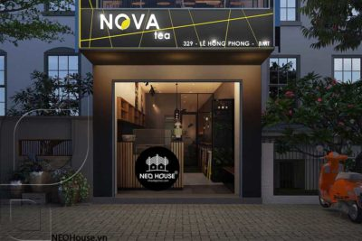Mãng Nhãn Với Nội Thất Quán Trà Sữa Nova Tea BMT-NTS05
