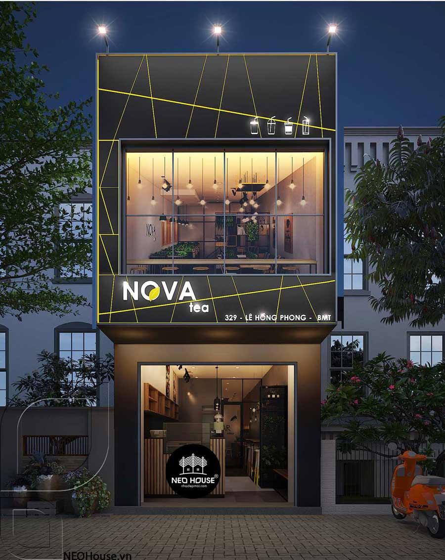 Mẫu thiết kế quán trà sữa Nova Tea
