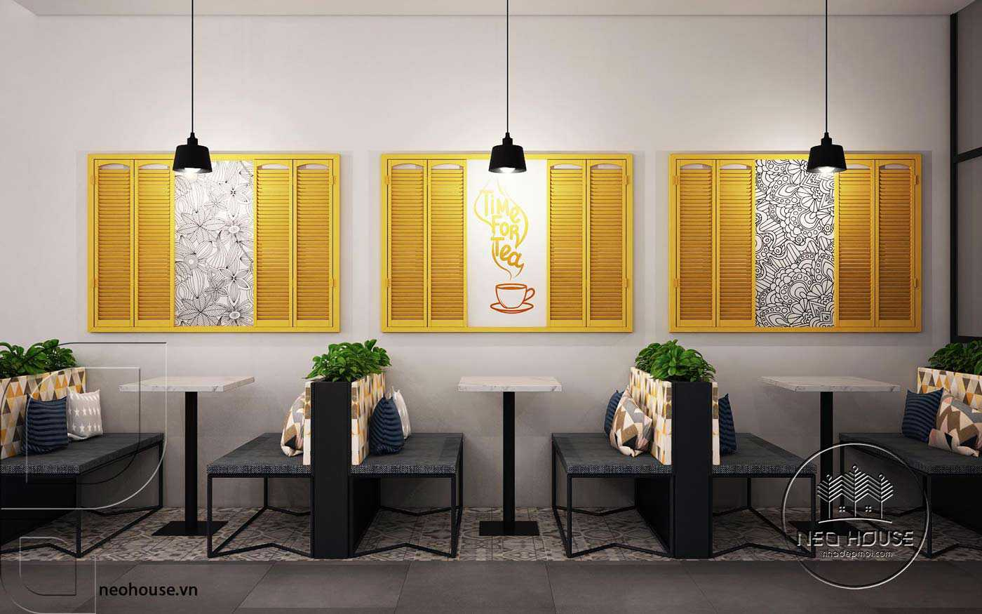 Mẫu thiết kế nội thất quán trà sữa Nova Tea. Ảnh 9