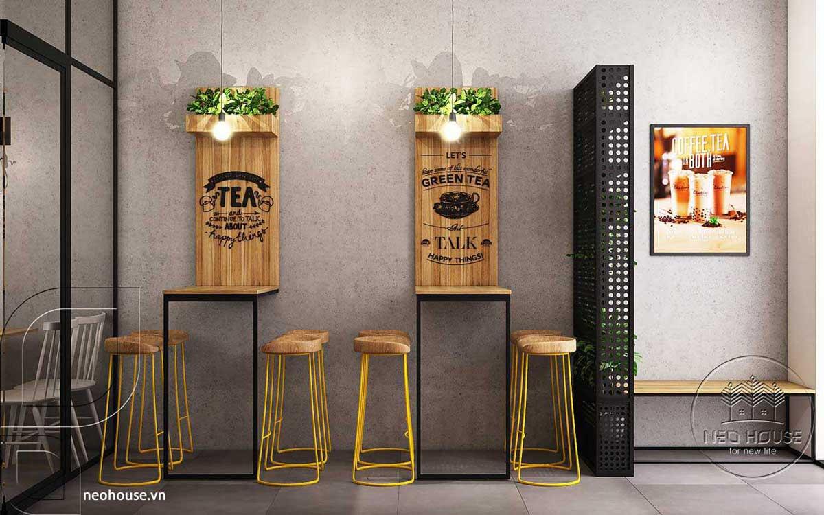 Mẫu thiết kế nội thất quán trà sữa Nova Tea. Ảnh 11