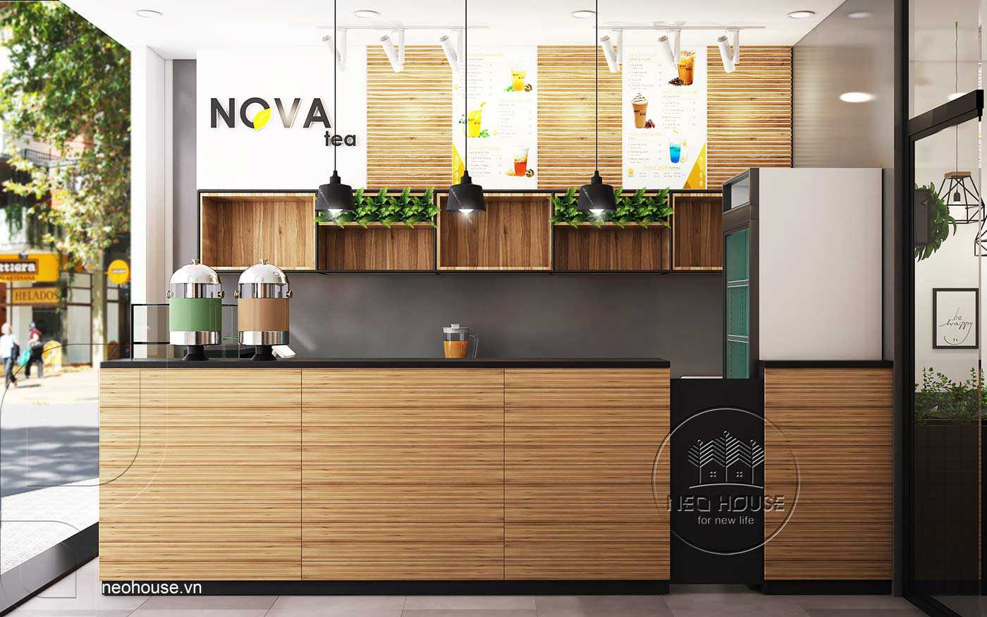 Mẫu thiết kế nội thất quán trà sữa Nova Tea. Ảnh 6