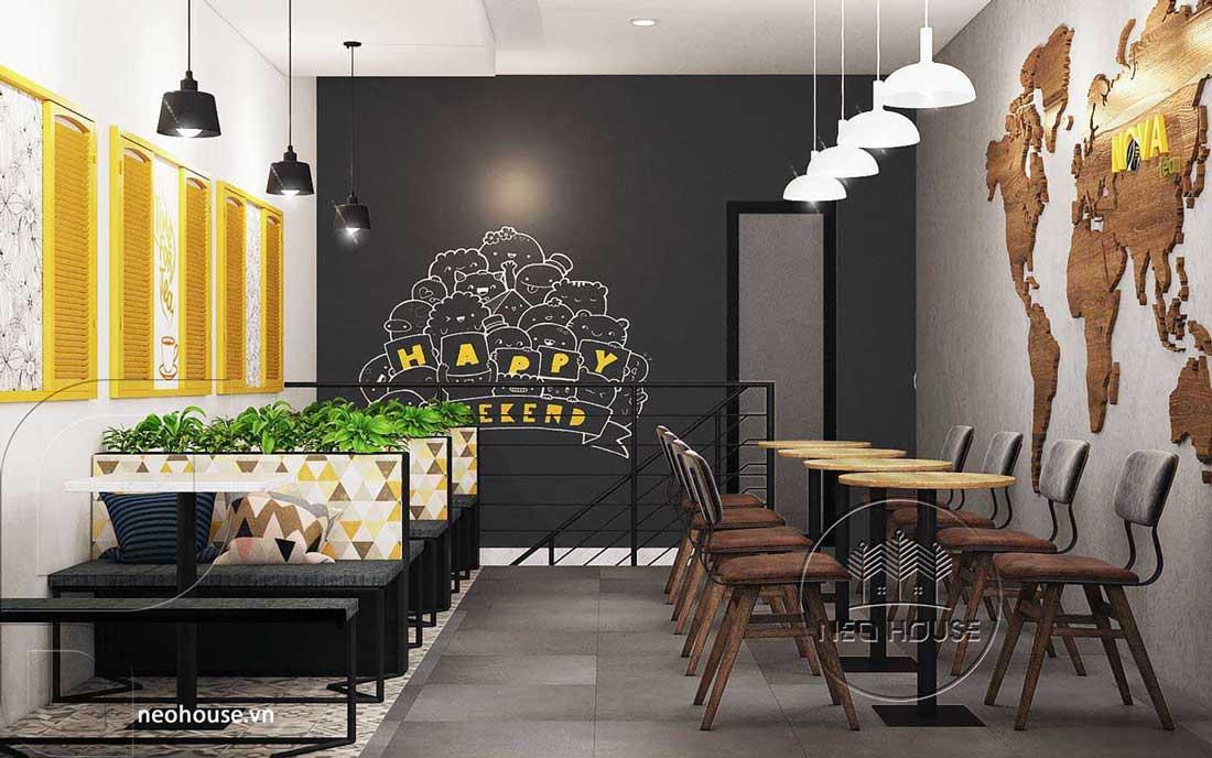 Mẫu thiết kế nội thất quán trà sữa Nova Tea. Ảnh 10