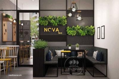 Mẫu Thiết Kế Nội Thất Trà Sữa Nova Tea 4x10m Tại Buôn Ma Thuột – NTS06