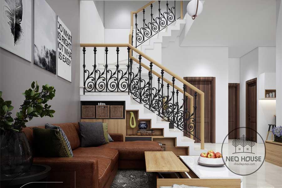 Thiết kế nội thất nhà biệt thự phố. Ảnh bìa