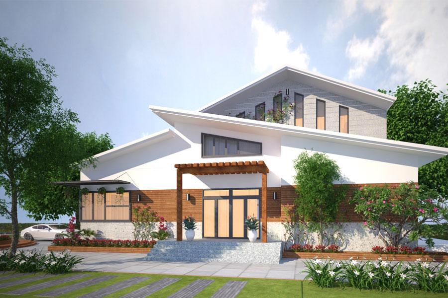 Độc Lạ Với Phong Cách Biệt Thự Vườn 1 Trệt 1 Lầu Tại Bình Phước