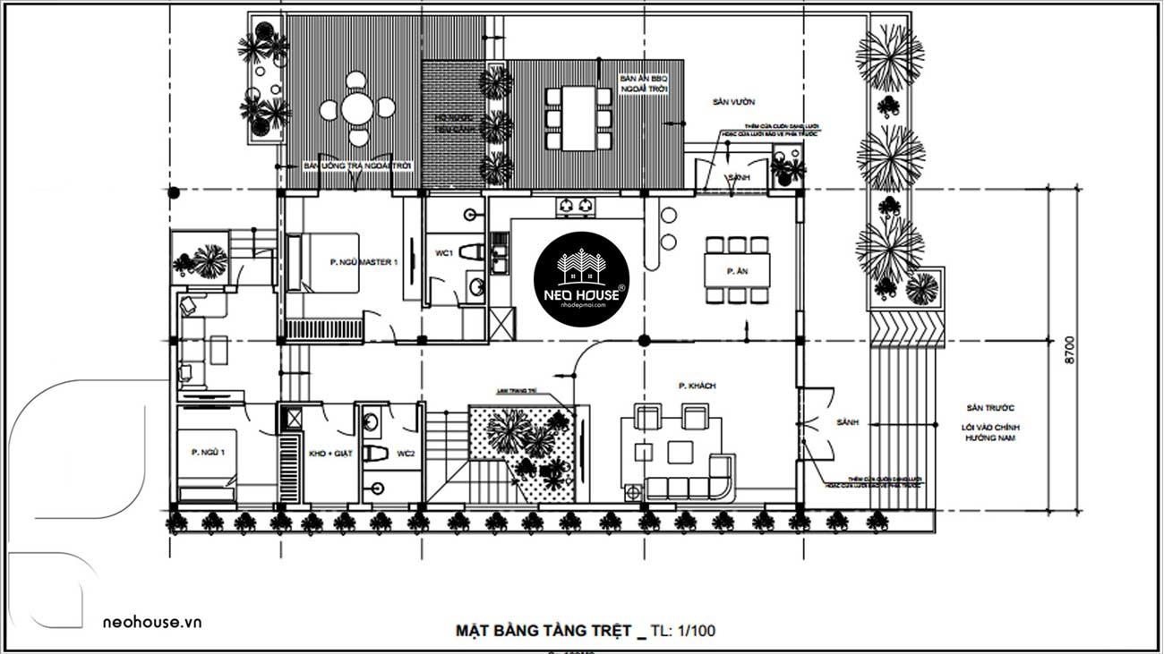 Phối Cảnh Biệt Thự Vườn 2 Tầng Nông Thôn Kiểu Mỹ