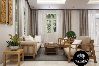 Trọn Bộ Mẫu Thiết Kế Nội Thất Biệt Thự Vườn 216m2 Tại Bình Phước – NT12