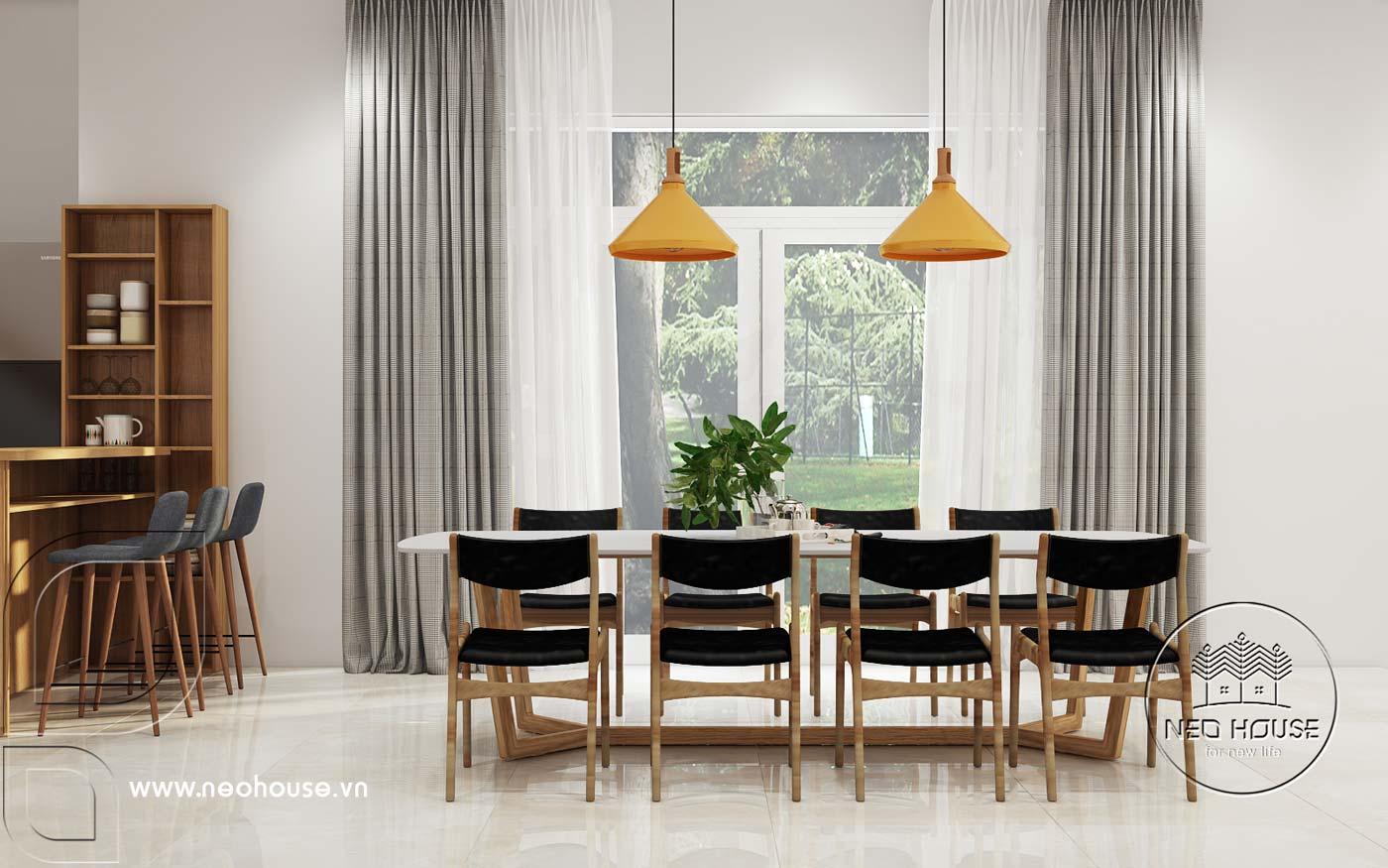 Mẫu thiết kế nội thất biệt thự hiện đại 1 trệt 1 lửng. Ảnh 3