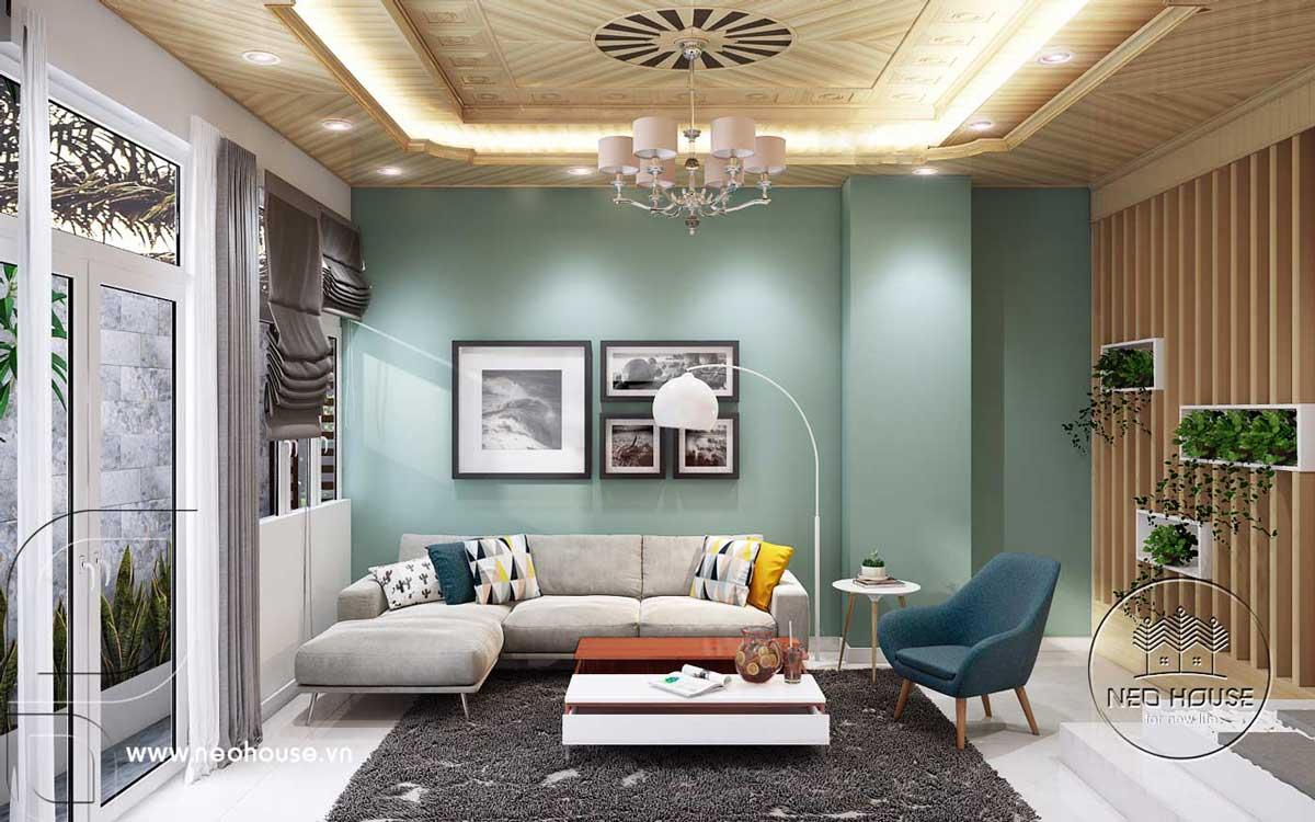 Thiết kế nội thất nhà phố hiện đại. Ảnh 1
