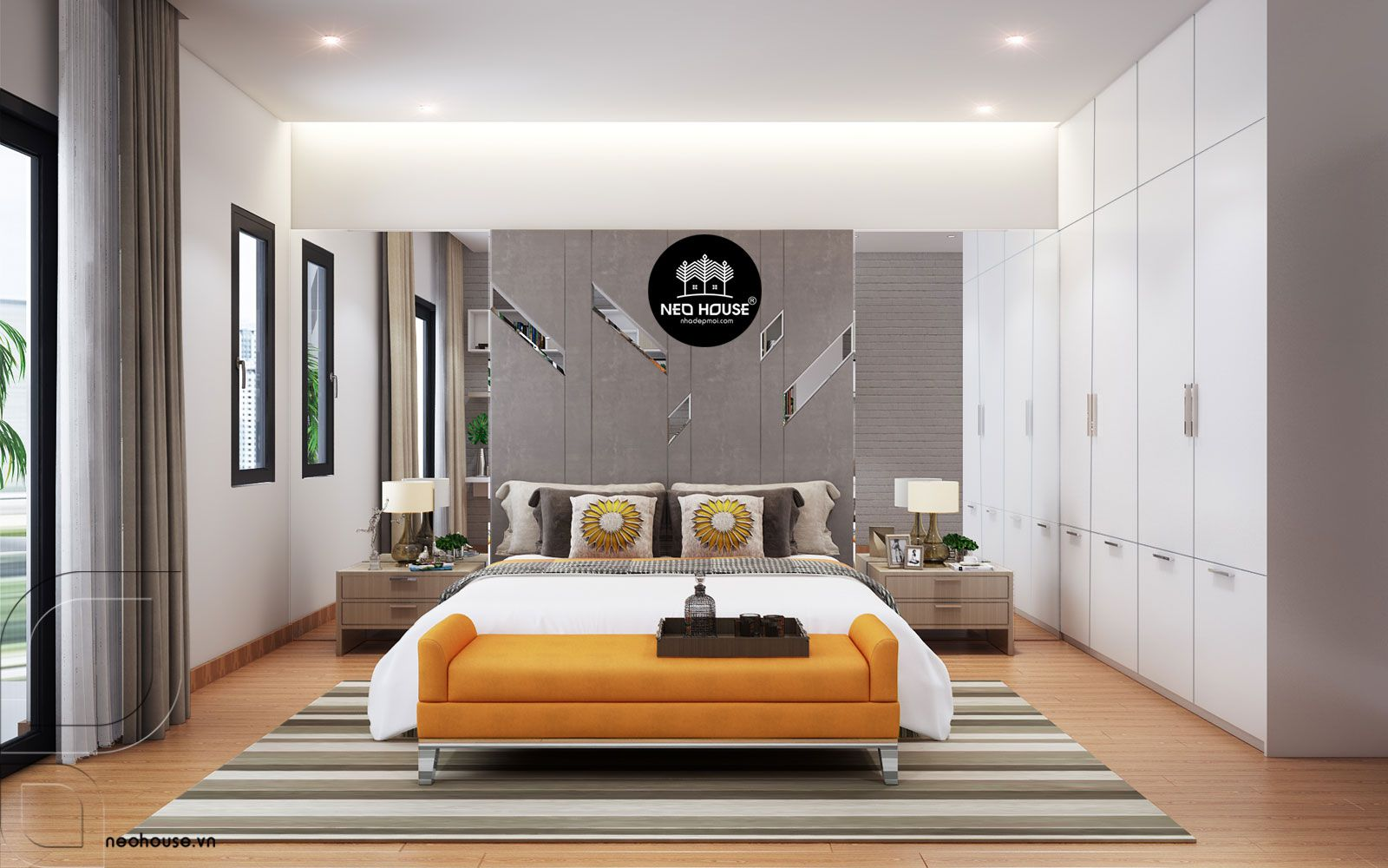Mẫu thiết kế nội thất phòng ngủ hiện đại. Ảnh 7