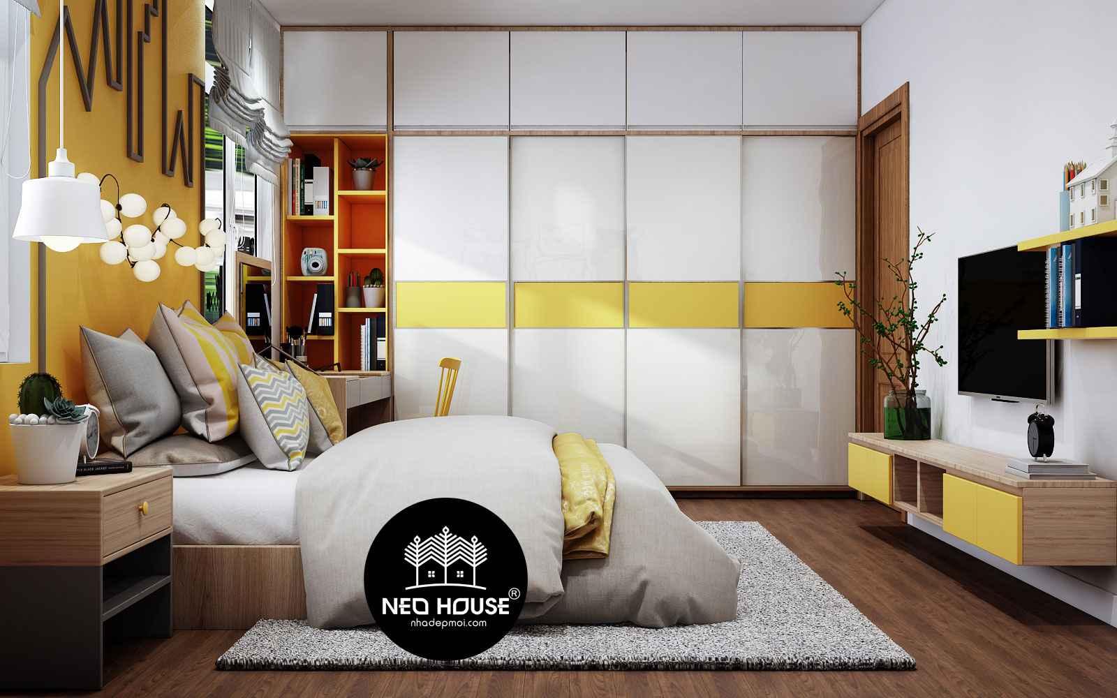 Thiết kế nội thất phòng ngủ con gái xinh xắn