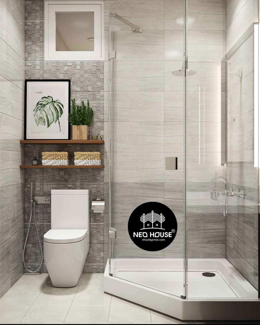 Thiết kế nội thất phòng tắm toilet