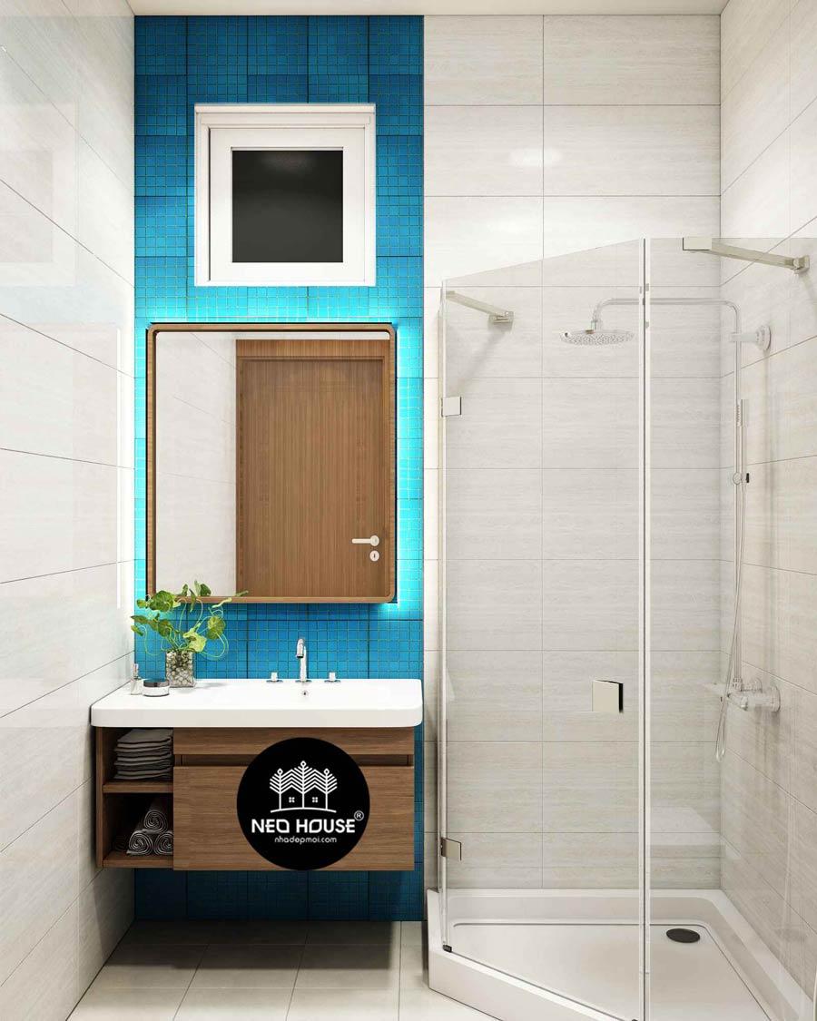 Thiết kế nội thất phòng tắm con trai