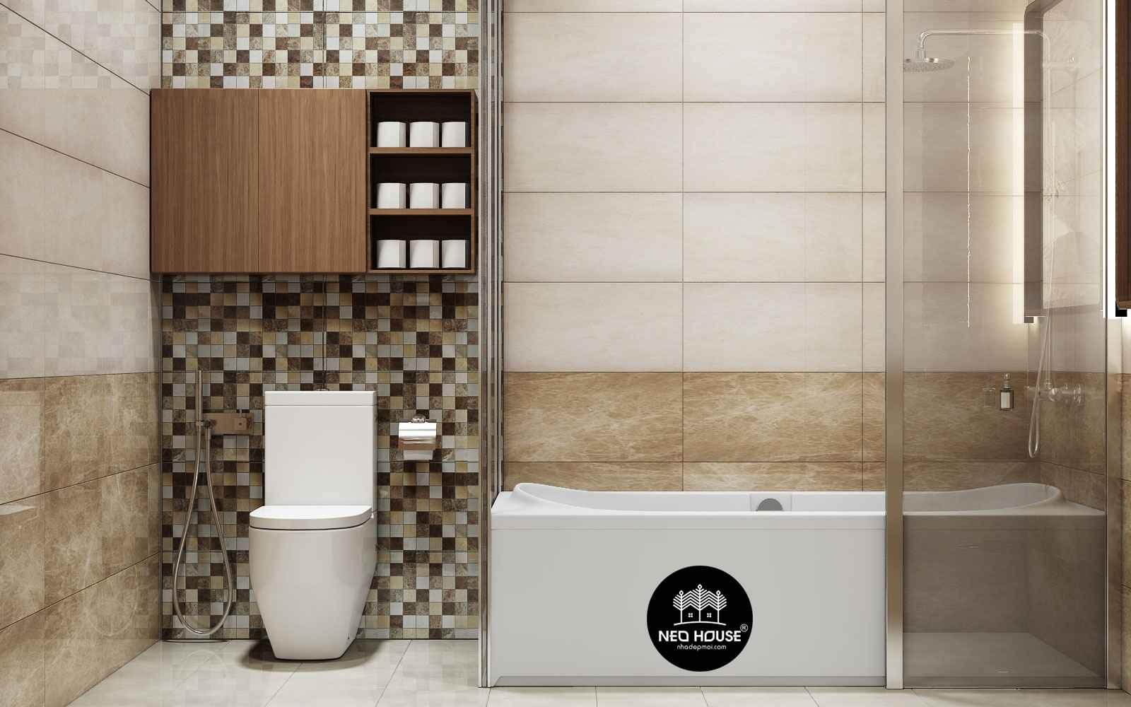 Thiết kế nội thất phòng tắm Master