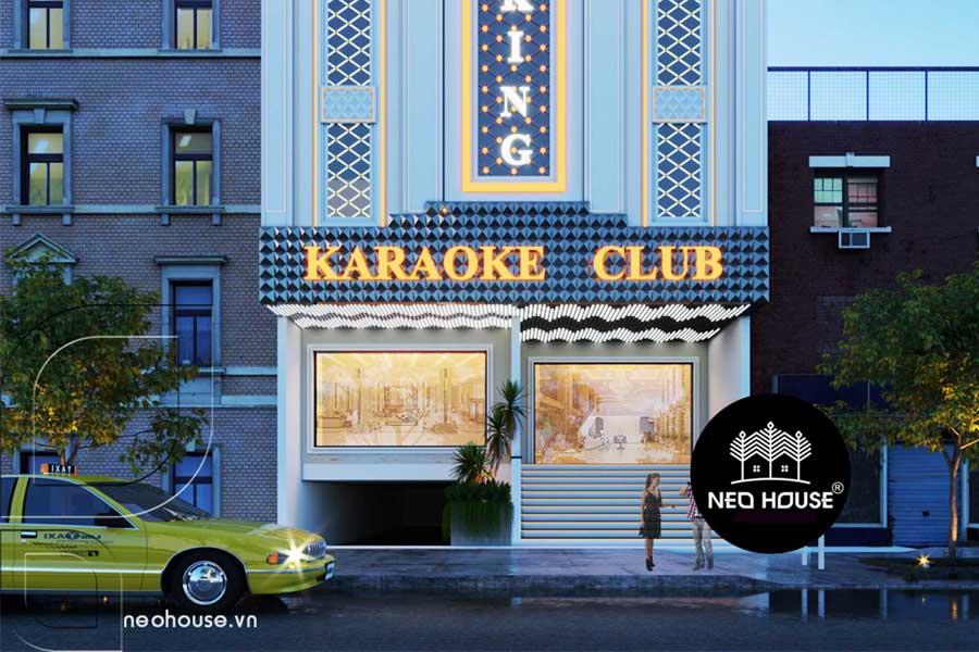 Thiết kế quán karaoke đẹp tân cổ điển. Ảnh bìa