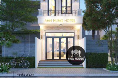 Đẹp Mắt Với Khách Sạn 3 Tầng Bán Cổ Điển Tại Hóc Môn-KS04
