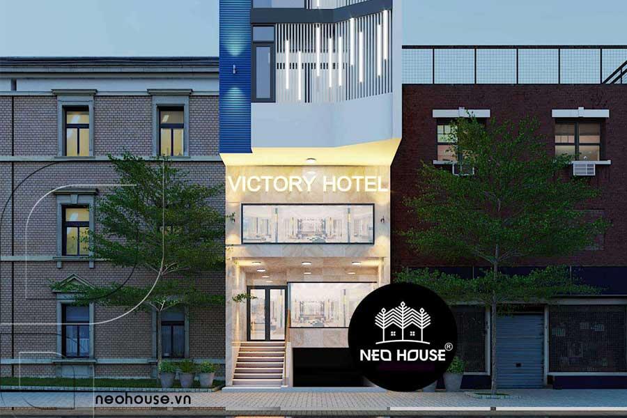 thiết kế khách sạn hiện đại 5 tầng. Ảnh bìa