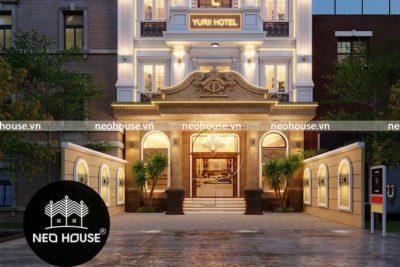 Thiết Kế Khách Sạn 5 Tầng Tân Cổ Điển Yurii Tại Phan Thiết-KS01