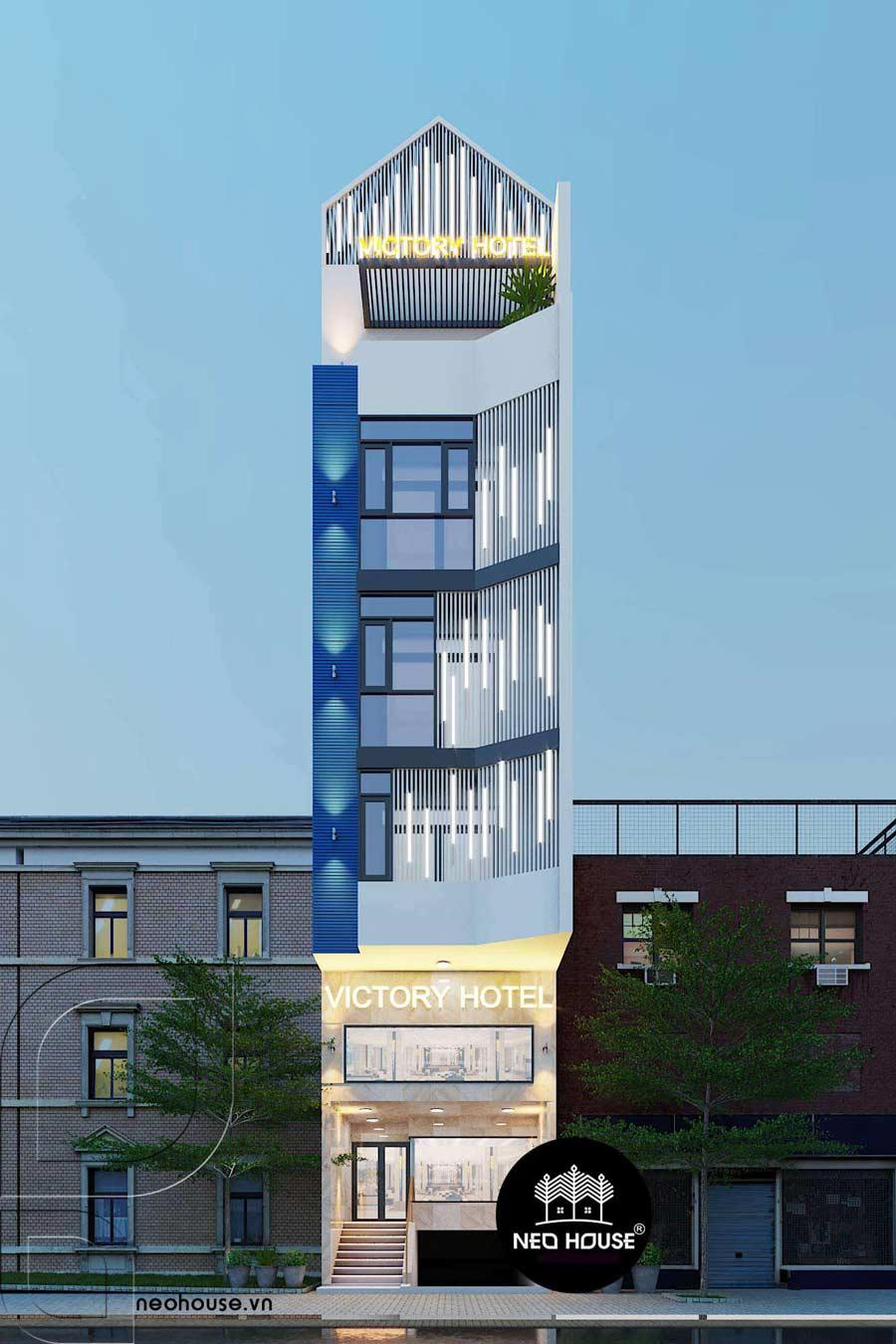 Thiết kế khách sạn hiện đại 5 tầng đẹp tại Tân Bình. Ảnh 3