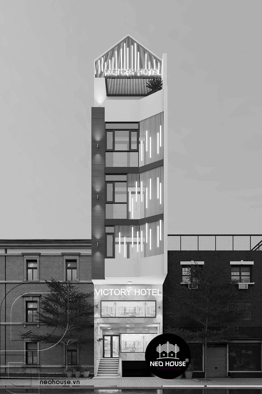 Thiết kế khách sạn hiện đại 5 tầng đẹp tại Tân Bình. Ảnh 2