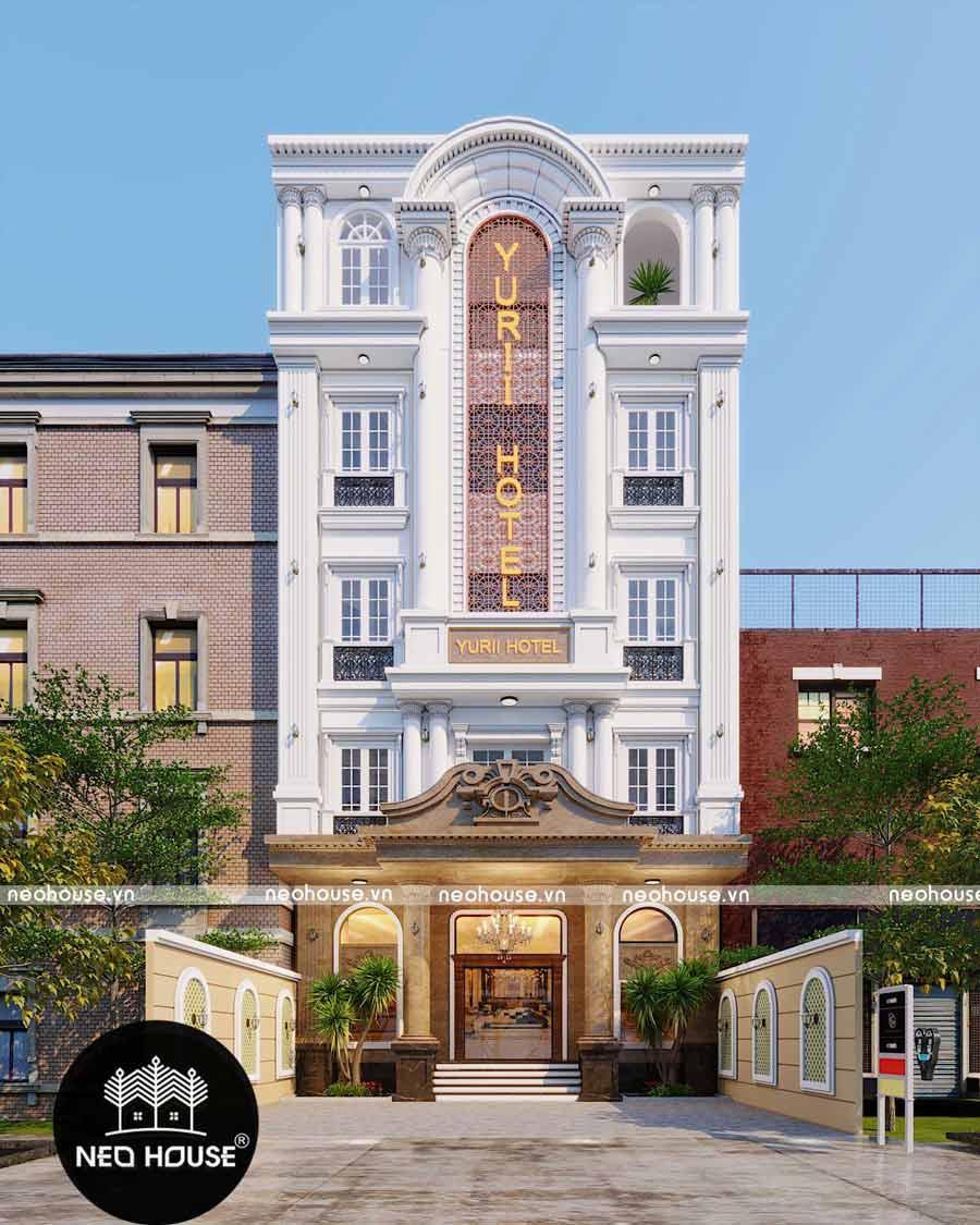 Thiết kế khách sạn 5 tầng YUrii
