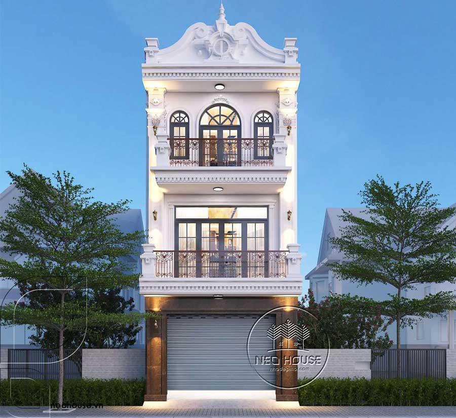 Phương án 1: Thiết kế Biệt Thự Tân Cổ Điển