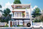 Mẫu Nhà Biệt Thự Đẹp 3 Tầng Hiện Đại 8x18m Tại Bình Tân Tp. HCM – BT17