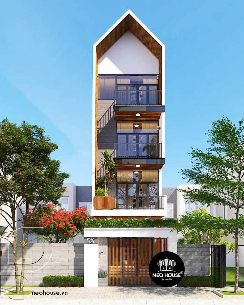 phương án 2 thiết kế nhà phố tại Đà Lạt