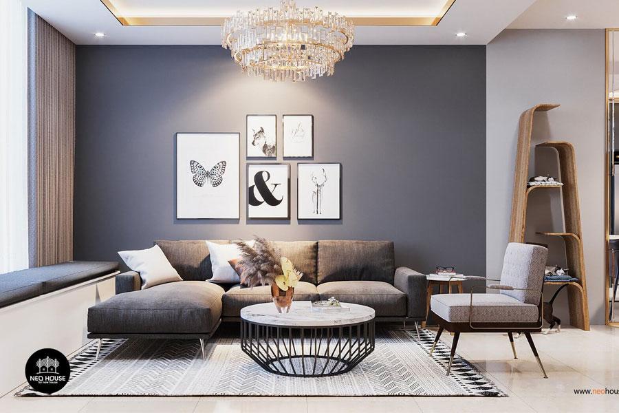 thiết kế nội thất căn hộ la casa phòng khách 2
