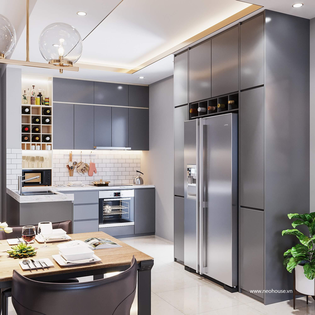 Nội thất phòng bếp căn hộ La casa 2