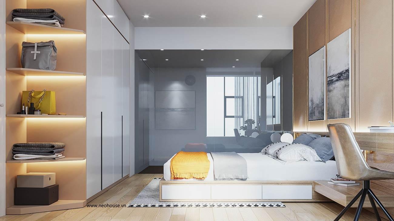 thiết kế nội thất căn hộ la casa phòng ngủ