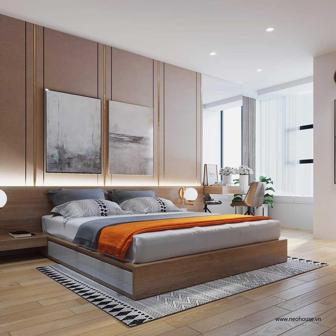 thiết kế nội thất căn hộ la casa phòng ngủ 2