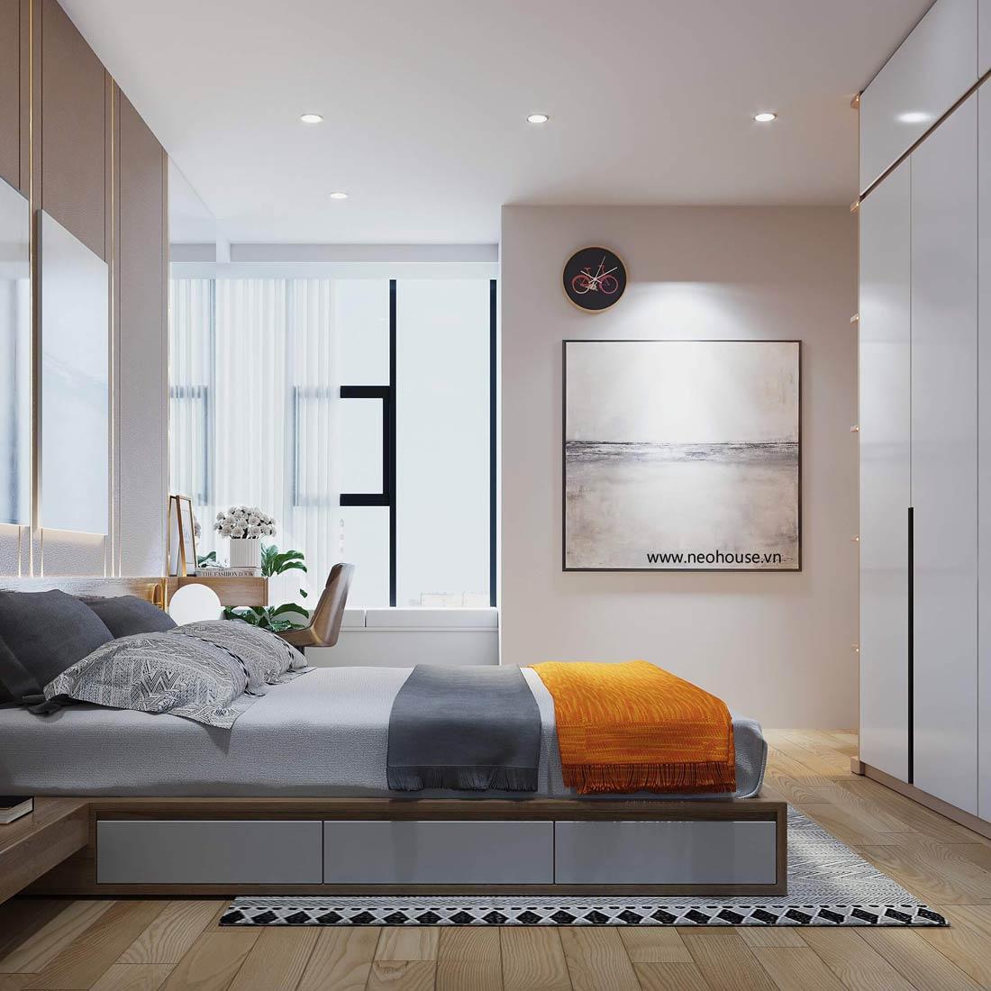 thiết kế nội thất căn hộ la casa phòng ngủ 3