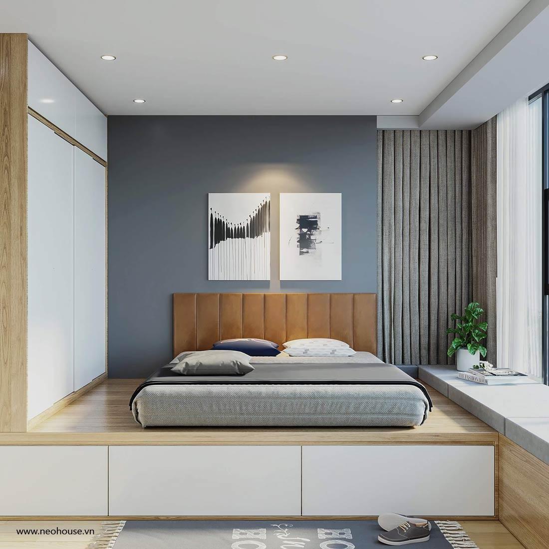 thiết kế nội thất căn hộ la casa phòng ngủ 4