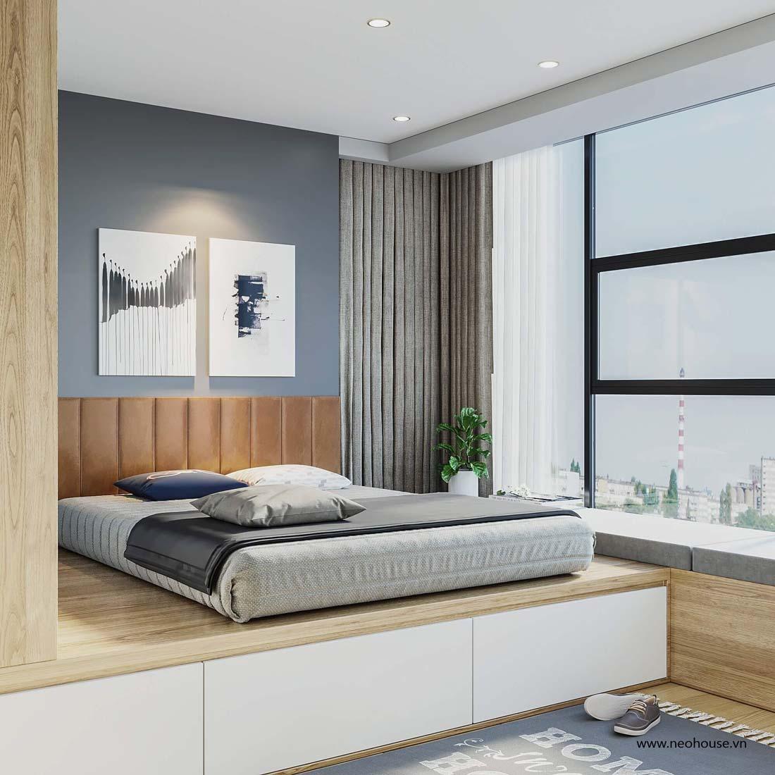 thiết kế nội thất căn hộ la casa phòng ngủ 6