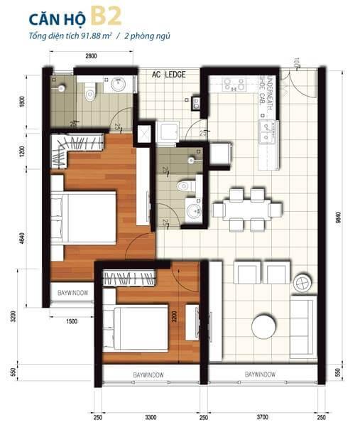Bản vẽ mặt bằng căn hộ chung cư cao cấp la casa 3