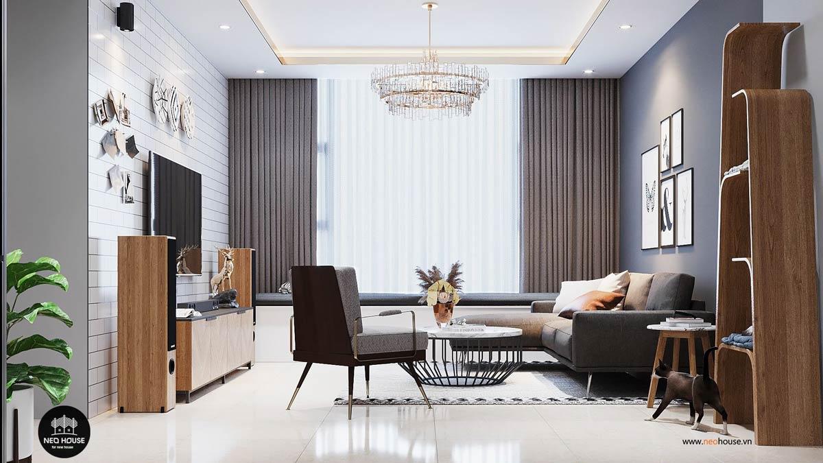 thiết kế nội thất căn hộ la casa phòng khách 1