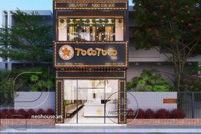 Trọn Bộ Mẫu Thiết Kế Quán Trà Sữa Tocotoco 57m2 Chị Linh Tại Tiền Giang – NST07