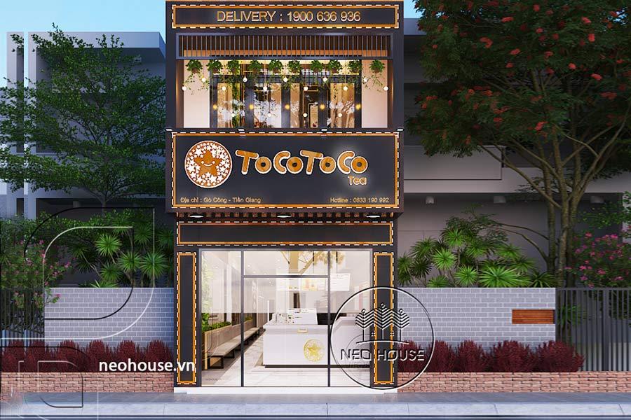 Thiết kế nội thất quán trà sữa Tocotoco. Ảnh bìa
