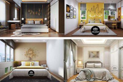 100+ Ý Tưởng Thiết Kế Trang Trí Tường Phòng Ngủ Đẹp Mới 2021