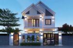 Thiết Kế Biệt Thự Mái Ngói 2 Tầng 130m2 Tại Bình Phước – BT19