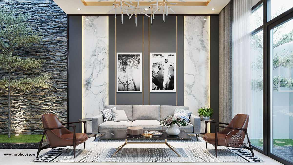 Thiết kế nội thất biệt thự đẹp 3 tầng. Ảnh 1