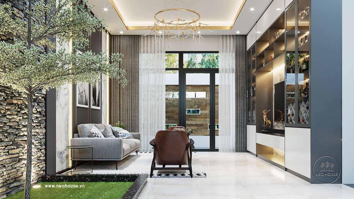 Thiết kế nội thất biệt thự đẹp 3 tầng. Ảnh 2
