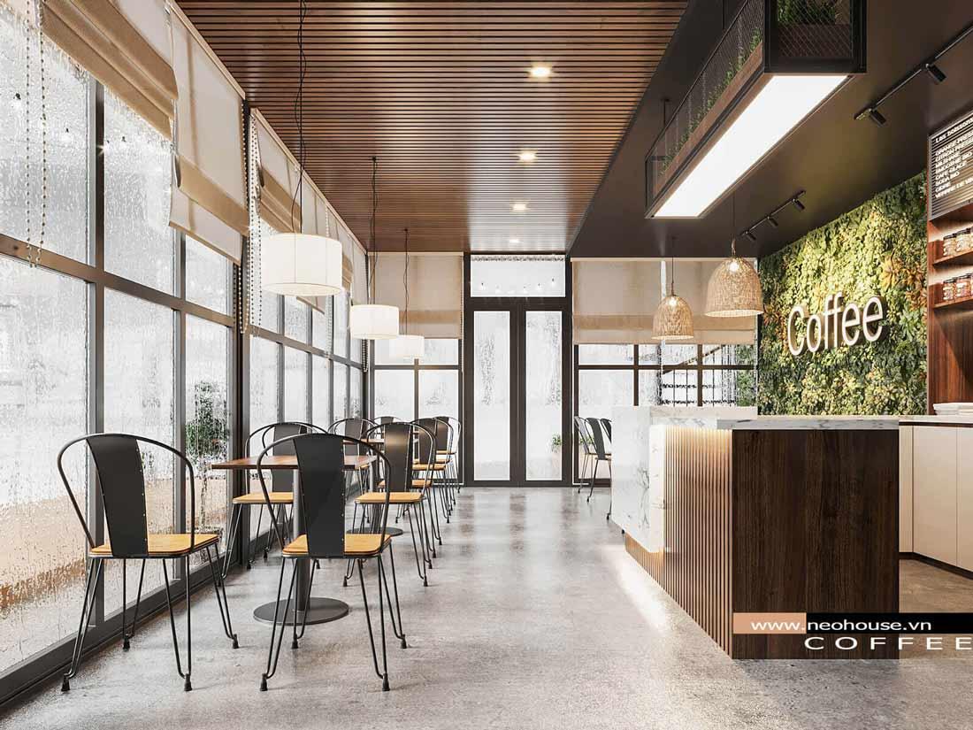 Thiết kế nội thất quán cafe đẹp hiện đại. Ảnh 3