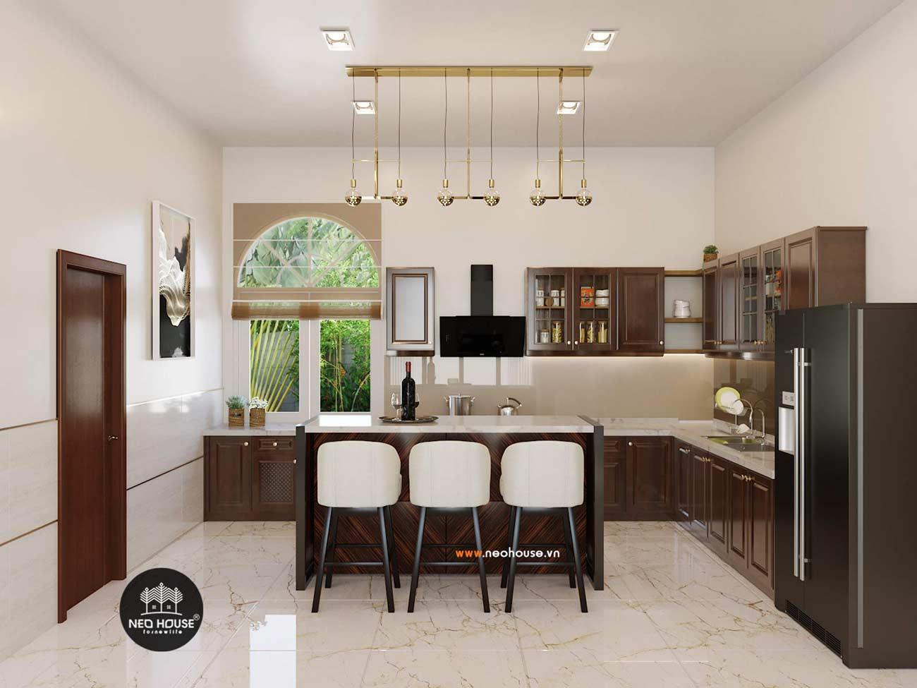 thiết kế nội thất biệt thự vườn phòng bếp